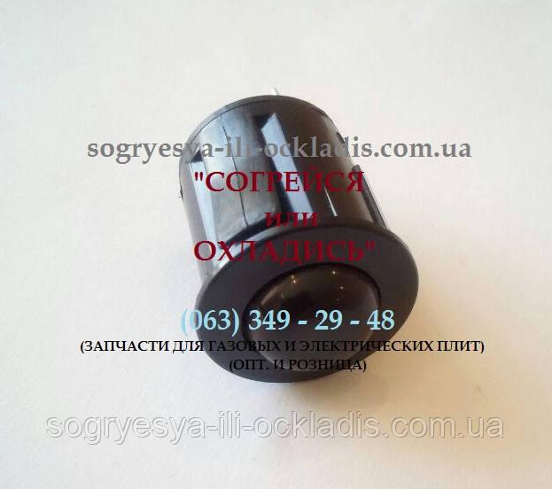 """Кнопка розжига для газовой плиты """"Брест"""" (""""Гефест"""") (""""GEFEST"""")(чёрная - круглая) 3 контакта. код сайта: 7114"""