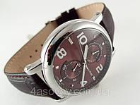 Часы мужские Alberto Kavalli в стиле Vintage, коричневый циферблат, корпус серебристый