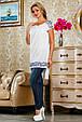 Блуза 2224 белый, фото 2