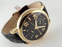 Часы мужские Alberto Kavalli в стиле Gold, черный циферблат, корпус золотистый
