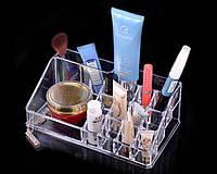 Акриловый органайзер для косметики настольный Cosmetic Organizer 16 ячеек v