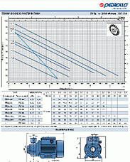 Насосная станция Pedrollo HF Plurijetm 4/100 /24CL, 0.75 кВт, 7.8 м3/ч, 46 м, фото 3