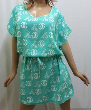 Платье штапельное с карманами и поясом, от 46 до 56 размера, фото 2