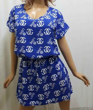 Платье штапельное с карманами и поясом, от 46 до 56 размера
