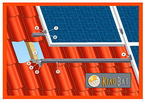 Комплект кріплень сонячної панелі на металочерепицю