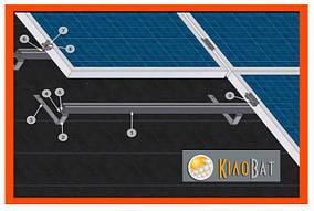Комплект кріплень сонячної панелі на гонтове покриття