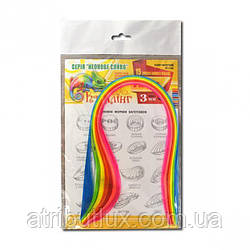 Бумага для квиллинга неон 7 цветов 15 полосок 3мм