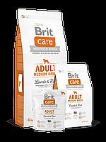 Brit Care Adult Medium Breed Lamb & Rice Корм для взрослых собак средних пород с ягненком и рисом 1 кг