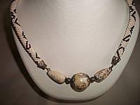 """Колье с с имитацией натуральных камней """"Мрамор"""", фото 1"""