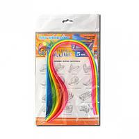 Бумага для квиллинга неон 7 цветов 15 полосок 5мм
