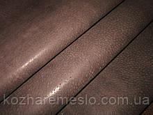 Кожа подкладочная воскованная свинная 0,5 - 0,6 мм тёмно - коричневый