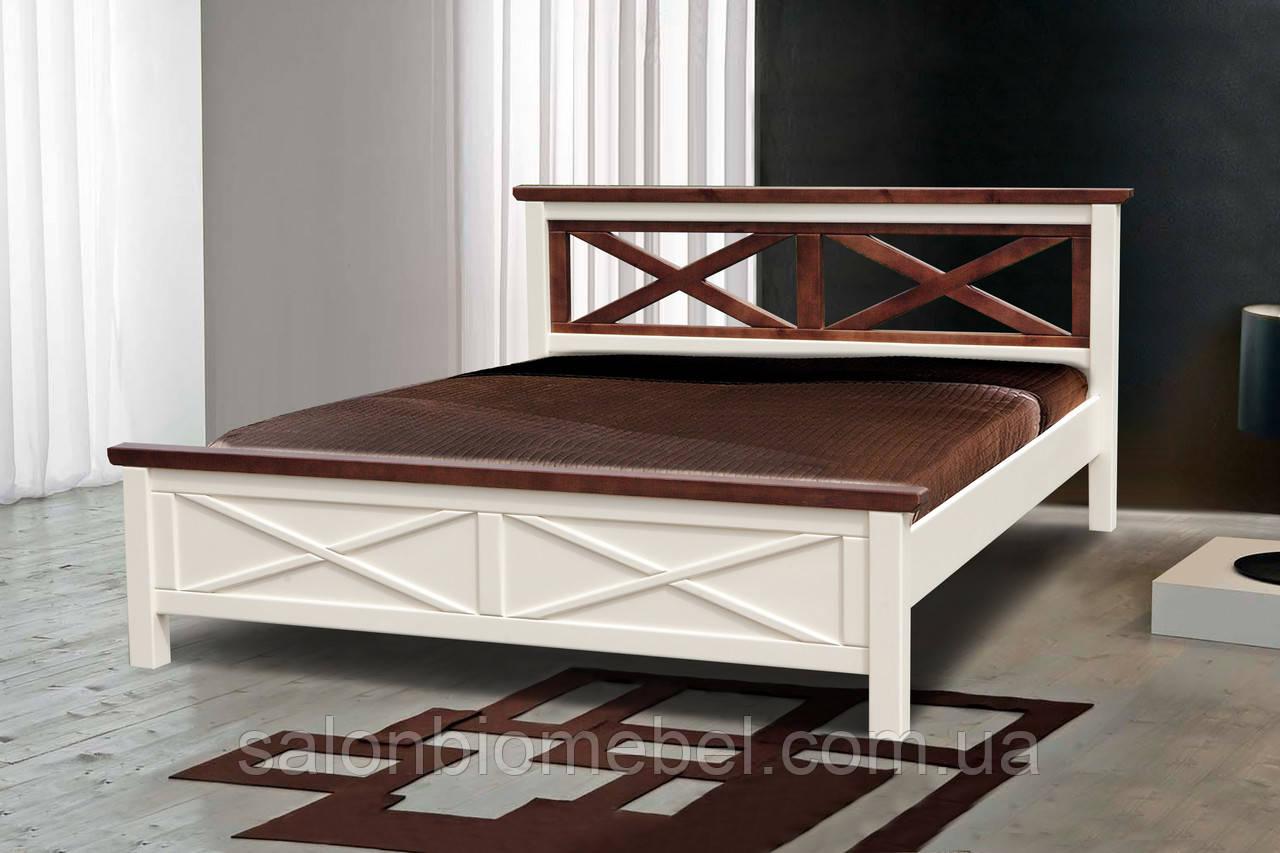 Кровать деревянная двуспальная Нормандия 1,4м