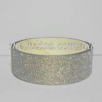 Скотч декоративный с глиттером, цвет серебро, 2,75 м