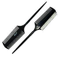 Расчёска парикмахерская для начёса с белой щетиной ДенІС