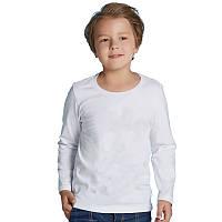 Детская двухслойная футболка, длинный рукав, размер 104