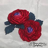 Цветочек Ранункулюс украшение для волос (основа на выбор), 2шт