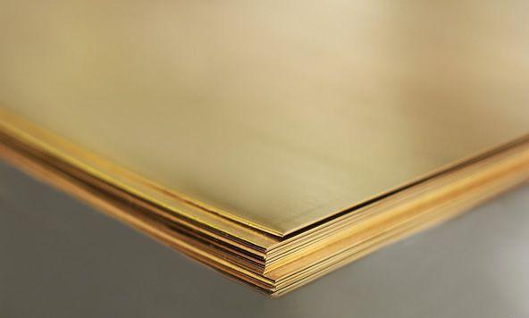 Лист латуневый Л63 1,2х600х1500