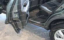 Накладки на пороги Hyundai Tucson 1 (накладки порогов Хендай Туксон)