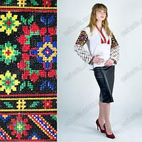 Женская украинская сорочка с богатой вышивкой на рукавх
