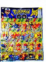 Детский Набор героев  Pokemon Go/ Покемоны  67205 - фигурки 5см, отрывные, микс видов, 24шт на планшетке 45*3
