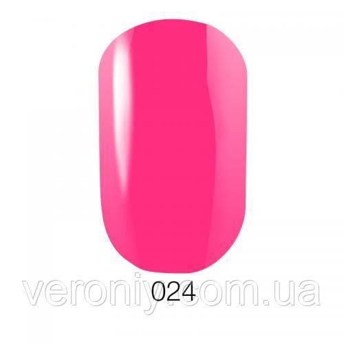 Гель лак GO 024 (яркий розовый, неоновый), 5.8 мл