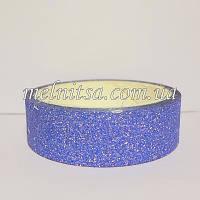 Скотч декоративный с глиттером, цвет синий, 2,75 м