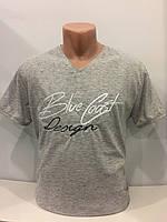 Мужская футболка с вышитой надписью S,M,XL