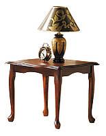 Стол дополнительный Вилена, столик журнальный деревянный Малайзия, каштан, 60*60*49
