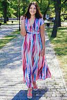 Женское летнее платье в пол больших размеров Волна размер 46-64
