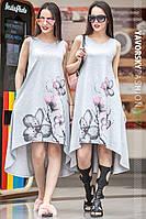 женское летнее асимметричное платье алексис