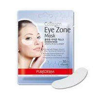 Коллагеновые патчи под глаза - Purederm Collagen Eye Zone Mask, фото 1