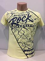 Мужская футболка с надписью Rock