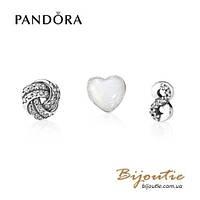 Pandora шармы-миниатюры БЕСКОНЕЧНАЯ ЛЮБОВЬ #792103CZ серебро 925 Пандора оригинал