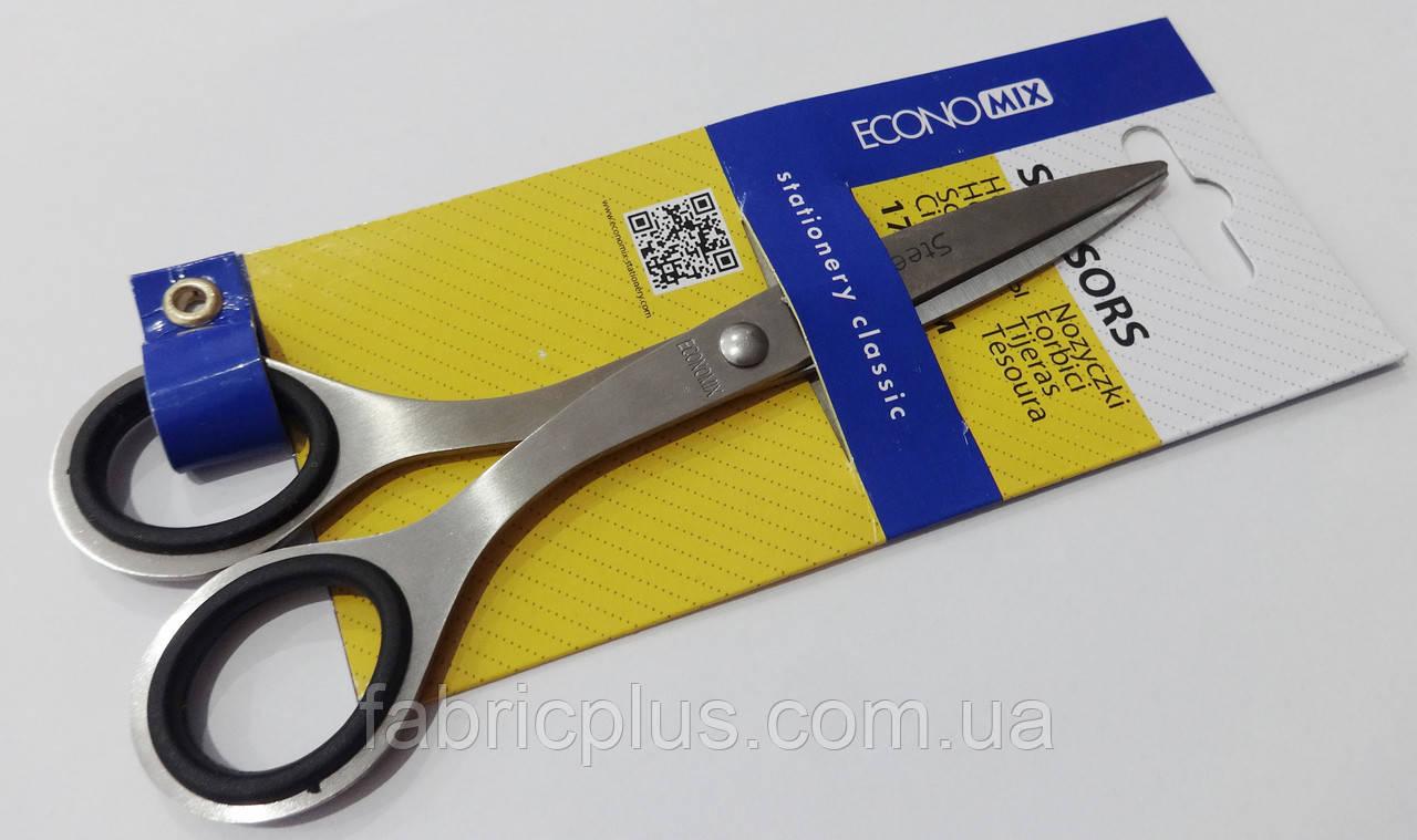 Ножиці 17 см метал. ручки з гум. вставками Е40423