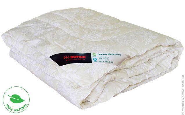 """Одеяло """"Полуторка Евростандарт с шерстью"""" межсезонное, фото 2"""