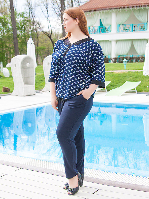 """Женские летние брюки большого размера """"Кола"""" до 70 и более"""