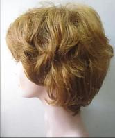Парик женский из 100% натуральных волос. Темный блондин (теплый русый).