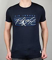 Мужская футболка NIKE 3884 Тёмно-синяя