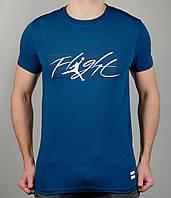 Мужская футболка NIKE 3886 Тёмно-синяя