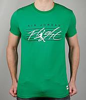 Мужская футболка NIKE 3887 Зелёная