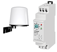 Реле контроля уровня освещенности TENSE сумеречное реле в комплекте с датчиком цена купить