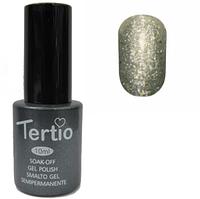 Гель-лак №175 (серебрянный с блестками) 10 мл Tertio