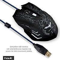 Мышь HAVIT HV-MS672G GAMING USB, black