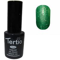 Гель-лак №178 (зеленый с блестками) 10 мл Tertio