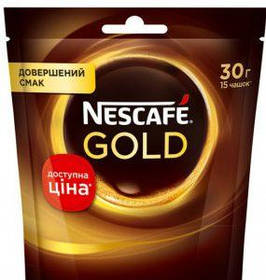 Кофе растворимый Nescafe Gold м/у  30г