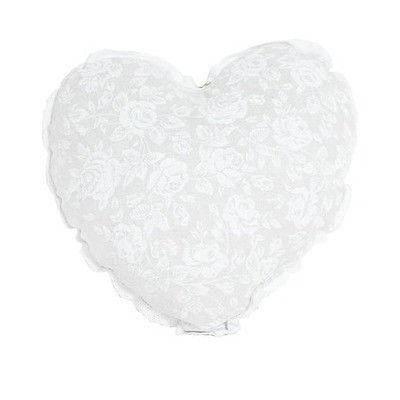 """Подушка Сердце ТМ """"Прованс"""" """"white Rose""""с кружевом, фото 2"""