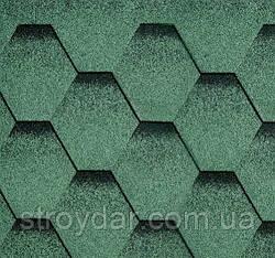 Бітумна черепиця Katepal колекція Katrilli колір Зелень мохова