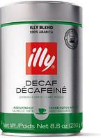 Кофе молотый Illy Decafeine без кофеина 250грамм