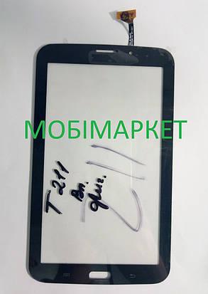 Сенсор (тачскрін) для планшета Samsung Galaxy Tab3 T211, T210 3G original, чорний, фото 2