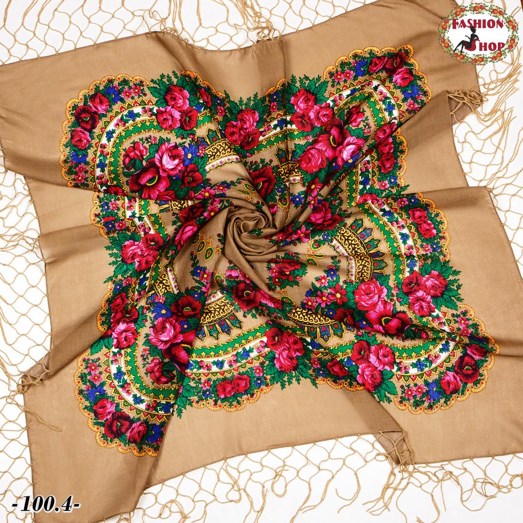 Украинский кофейный платок Цветущий сад